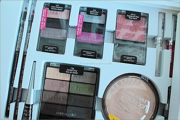 Lidschatten gibt es auch im wet n wild Make-up Koffer