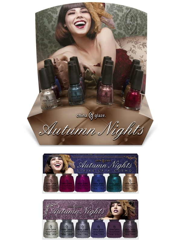 China Glaze Autumn Nights Promo Bilder