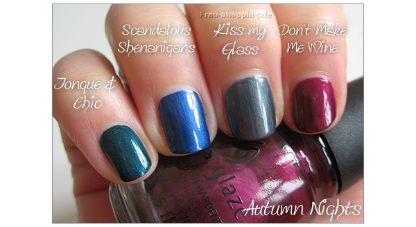 China Glaze Autumn Nights Schimmer Lacke