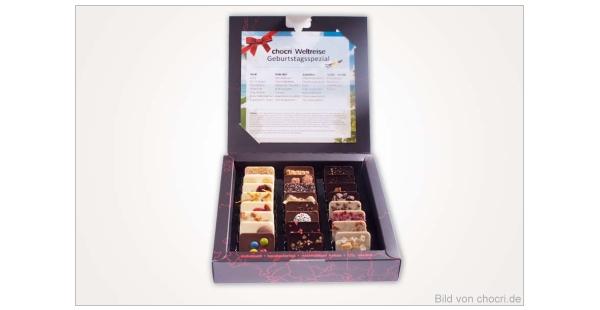 chocri limitierte Weltreise-Box