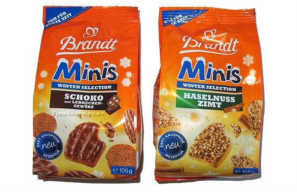 Brandt Minis Winter Selection Schoko Lebkuchen und Haselnuss Zimt