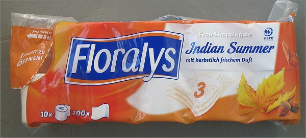 Lidl: Floralys Indian Summer Toilettenpapier