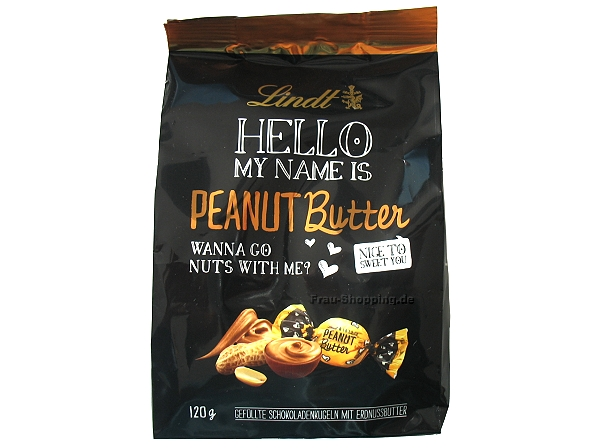 Lindt Hello My Name Is Peanut Butter