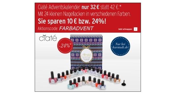 Ciaté Adventskalender 2013 für 32 statt 42 Euro bei Karstadt