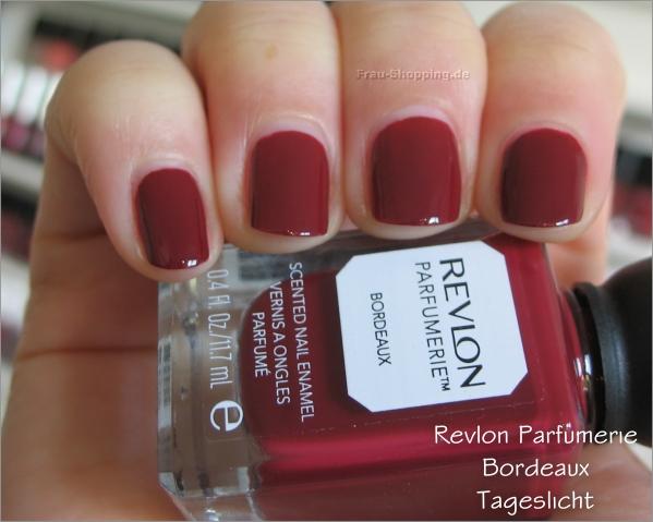 Revlon Parfumerie Bordeaux Swatch Tageslicht