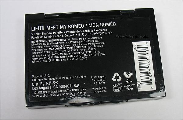 NYX Love in Florence Lidschatten Palette - Meet My Romeo