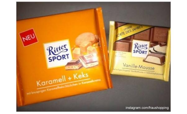 Instagram Foto von Ritter Sport Karamell + Keks und Vanille-Mousse