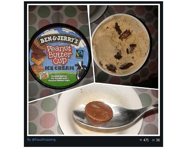 Mein Instagram Bild von Ben & Jerry's Peanut Butter Cup
