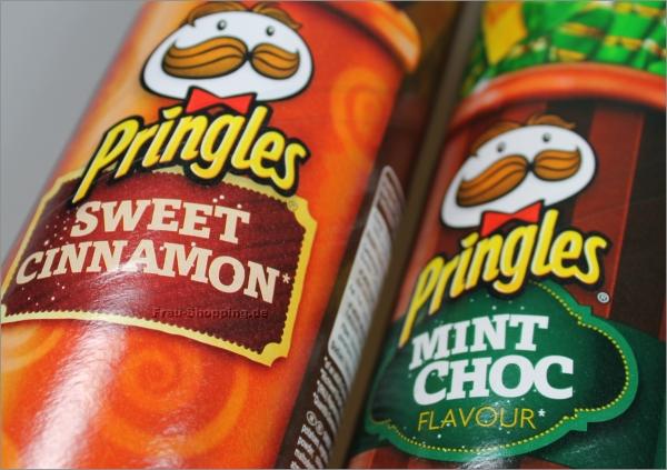 Pringles Mint Choc und Pringles Sweet Cinnamon