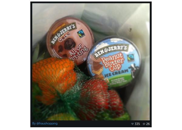 Ben & Jerry's All or Nut-ting auf meinem Instagram Bild