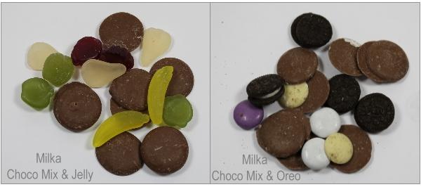 Der Inhalt der Milka Choco Mix Tüten