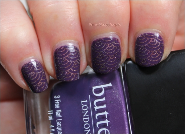 Butter London Marrow mit einem Stamping mit A England Sleeping Palace