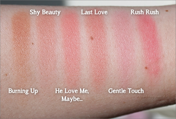 Swatches der Zoeva Luxe Colour Blush
