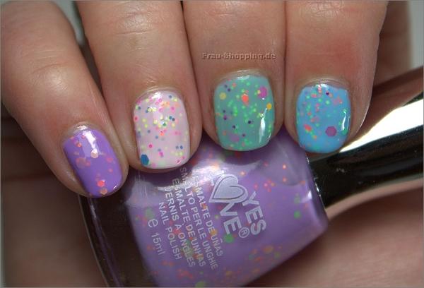 Frisch lackiert: Yes Love Neon Glitter Nagellacke