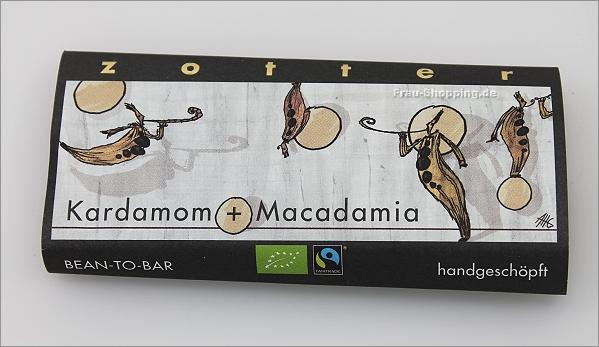 Zotter Kardamom Macadamia