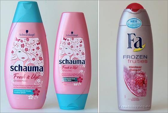Schauma Fresh it up Shampoo und Spülung und Fa Frozen Duschgel