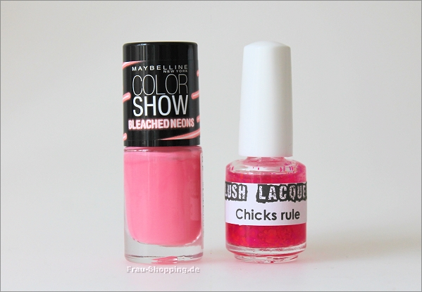 Maybelline Bleached Neons Tropink und Lush Lacquer Chicks rule