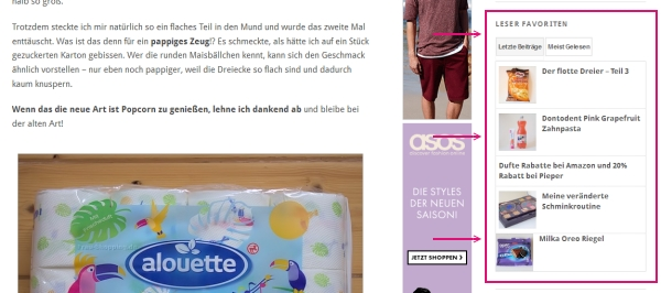 Neues Blogdesign Screenshot 3