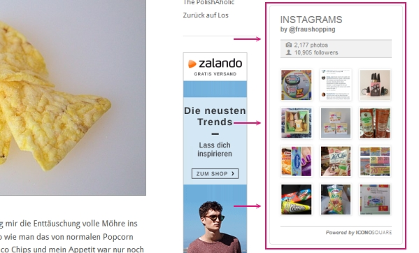 Neues Blogdesign Screenshot Instagram