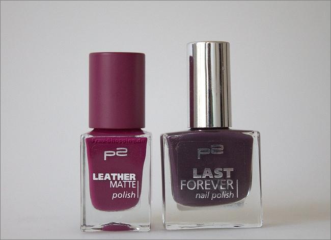 Mein Einkauf: p2 Leather Matte Polish 040 und Last Forever Nagellack 019 romantic dinner