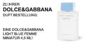 Gratis Geschenk von Dolce & Gabbana