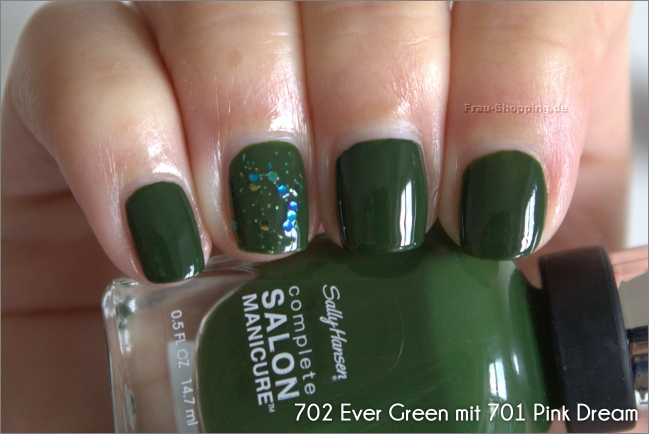 Sally Hansen Ever Green mit Pink Dream