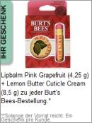 Gratis Geschenk von Burt's Bees