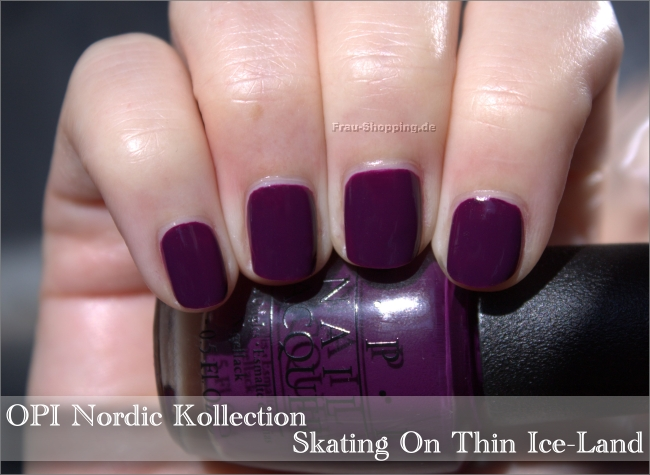 Frisch lackiert: OPI Skating On Thin Ice-Land