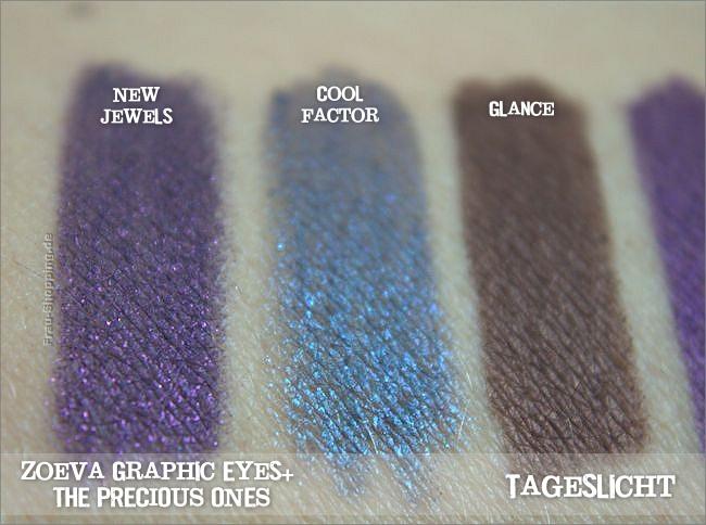Neue Zoeva Graphic Eyes+ Liner - The Precious Ones  - Swatch bei Tageslicht