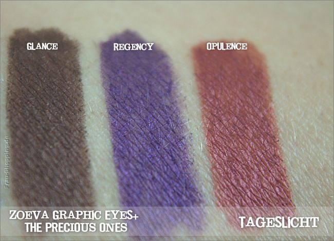 Neue Zoeva Graphic Eyes+ Liner - The Precious Ones  - Swatch bei Tageslicht