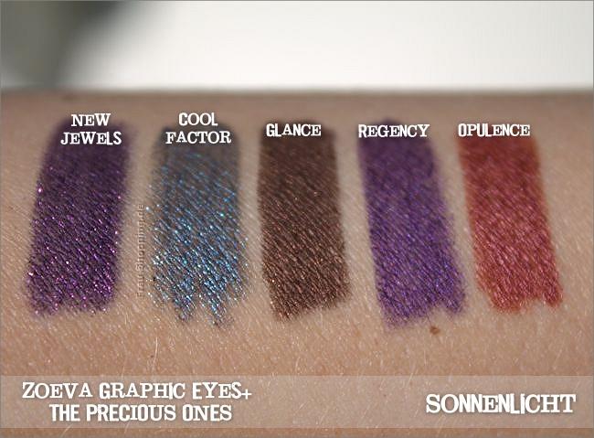 Neue Zoeva Graphic Eyes+ Liner - The Precious Ones  - Swatch bei Sonnenlicht