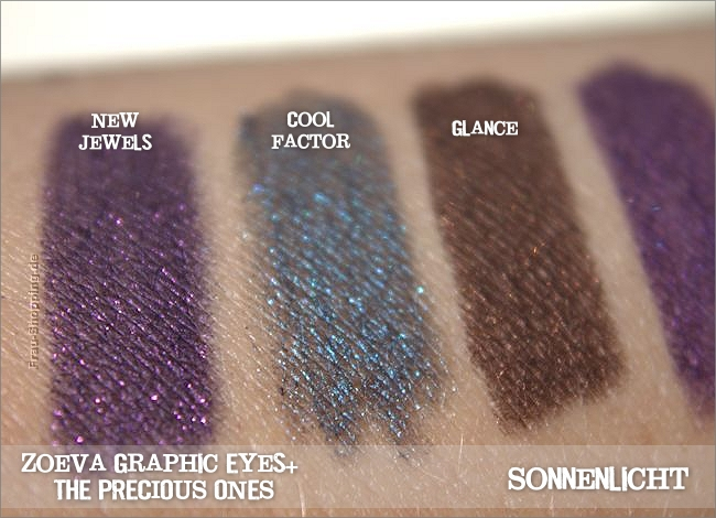 Neue Zoeva Graphic Eyes+ Liner - The Precious Ones  - Swatch bei Sonnenlicht