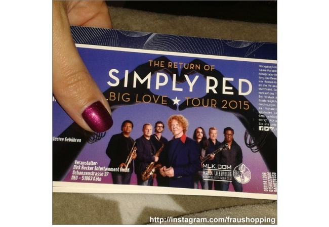 Aus meinem Einkaufswagen Teil 19 - Tickets für Simply Red