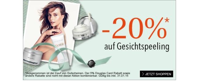 20% Rabatt auf Gesichtsmasken und Peelings bei douglas.at