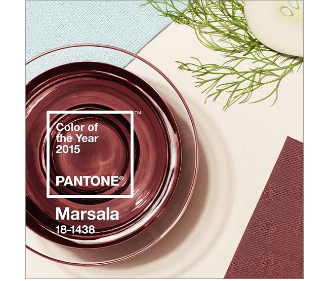 Pantone Farbe des Jahres 2015 - Marsala