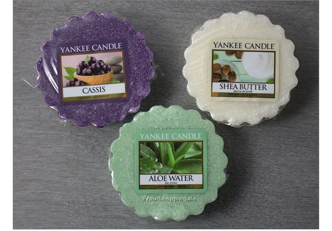 Yankee Candle Frühling 2015 - pure essence Düfte - Cassis, Shea Butter und Aloe Water