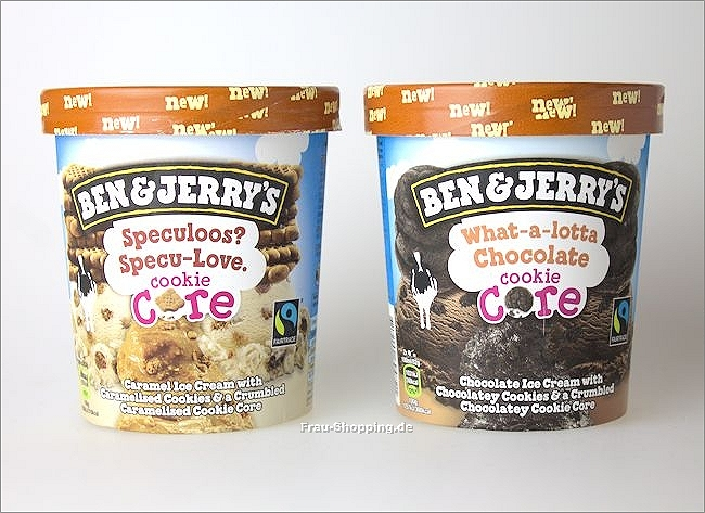 Ben & Jerrys Speculoos? Specu-Love Cookie Core und  What-a-lotta Chocolate Cookie Core
