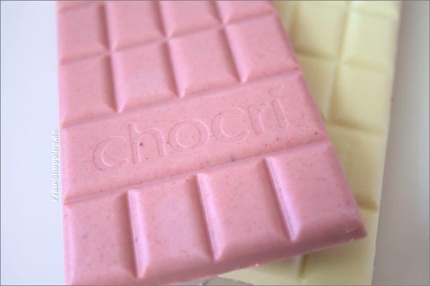 Neu bei chocri: Joghurt- und Erdbeerschokolade