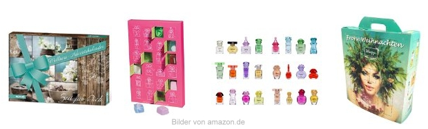 Kosmetik Adventskalender bei Amazon
