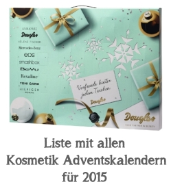 Beauty und Kosmetik Adventskalender 2015