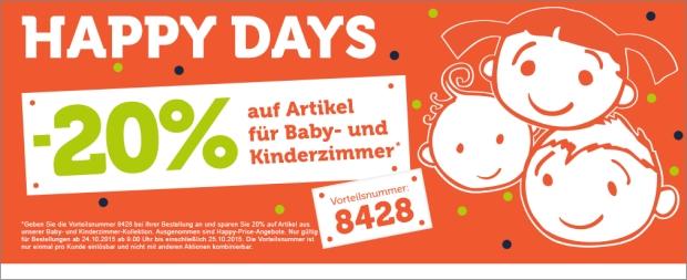 20% Rabatt bei Vertbaudet auf Baby- und Kinderzimmer Artikel