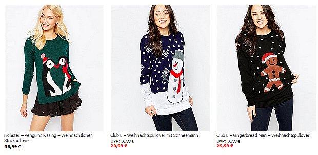 Tolle kitschige Weihnachtspullover bei Asos reduziert