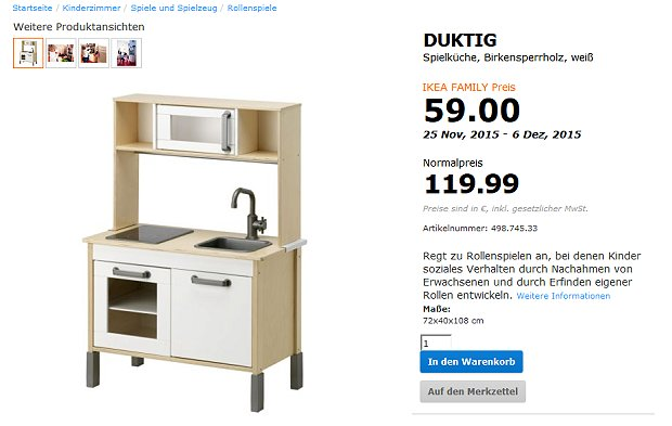 ikea duktig kinderk che reduziert f r kurze zeit. Black Bedroom Furniture Sets. Home Design Ideas