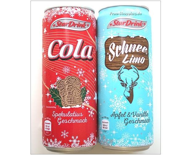 Netto: Star Drink Cola mit Spekulatius Geschmack und Schnee Limo