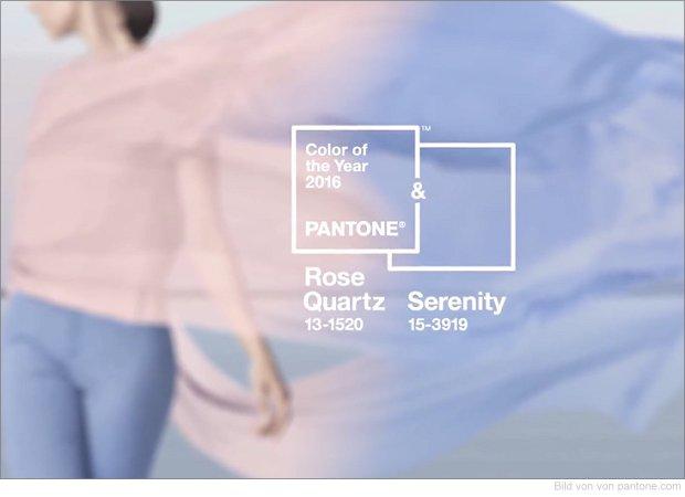 Pantone Farbe des Jahres 2016 - Rose Quartz and Serenity
