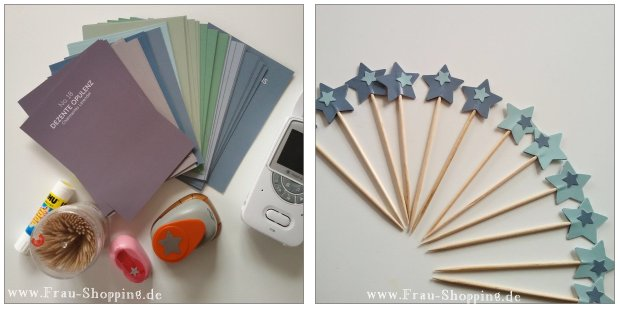 Selbstgemachte Cupcake-Topper