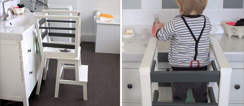ikea hack unser selbst gebauter learning tower lernturm. Black Bedroom Furniture Sets. Home Design Ideas