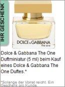 Gratis Geschenk von Dolce&Gabbana