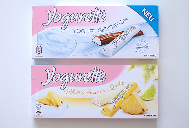 Yogurette Yogurt Sensation und Yogurette White & Ananas-Limette