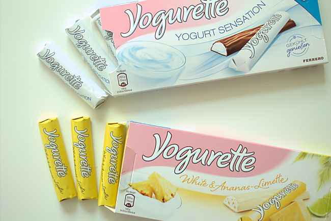 Yogurette Yogurt Sensation Und Yogurette White Ananas Limette